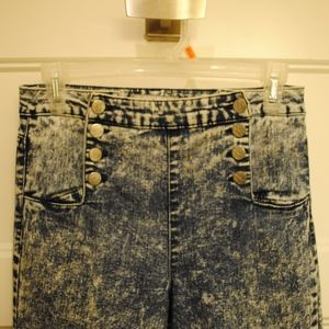 Almost Famous Jeans - 112. high-waisted acid wash jeans